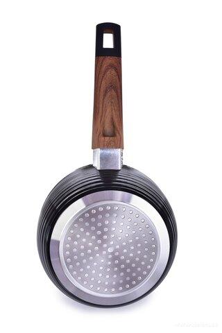 DA25321-Rajnicu Ø 16 cm BIOPAN ® woodoo s rukoväťou soft touch v imitácii dreva