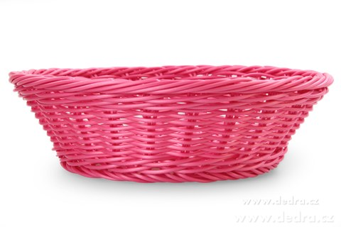 DA5569-Plastová ošatka na pečivo, ovocie, ... pr.:26 cm, v.: 7,5 cm