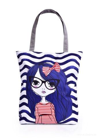 FC25338-Textilná kabelka / taška FC ELEGANT MARINE LITTLE GIRL, s uzatváraním na zips