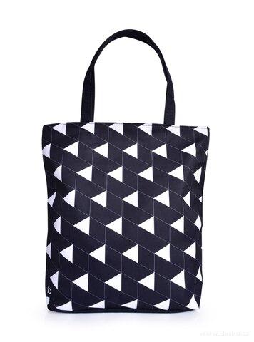 FC25335-Textilná kabelka / taška FC ELEGANT BLACKk & WHITE s uzatváraním na zips