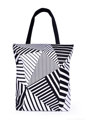 FC25332-Taška čierno biela geometry