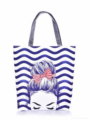 FC25331-FC ELEGANT MARINE GIRL textilná kabelka / taška s uzatváraním na zips