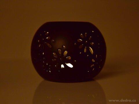 DA224611-Keramická aromalampa s čipkovaným dekorom