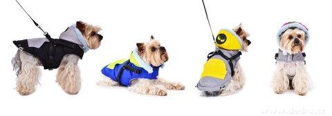 FC25571-3v1 prešívaná bunda, popruhy a vodítko v jednom pre psíkov