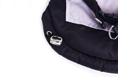 FC25561-3v1 prešívaná bunda, popruhy a vodítko v jednom pre psíkov