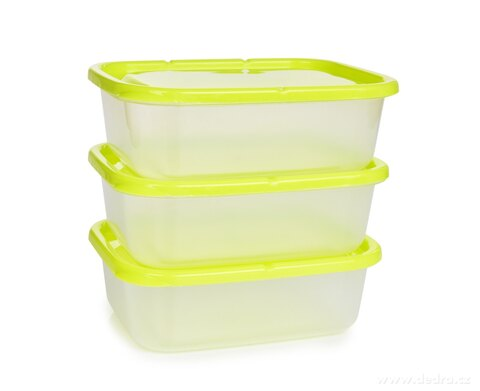 DA59681-3 ks dóza na potraviny Greenbox 650 ml, z odolného plastu