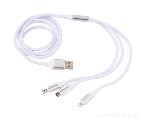 DA19725-3in 1 USB kábel s tromi koncovkami