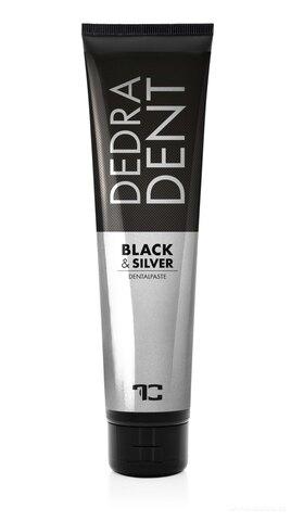FC25723-DEDRA DENT zubná pasta BLACK & SILVER s iónmi striebra aktívnym uhlím z bambusu a mätovú silicou