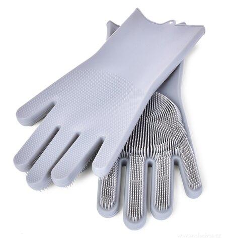 DA25811-2 KS SILISASANKA, silikónová rukavice na umývanie povrchov