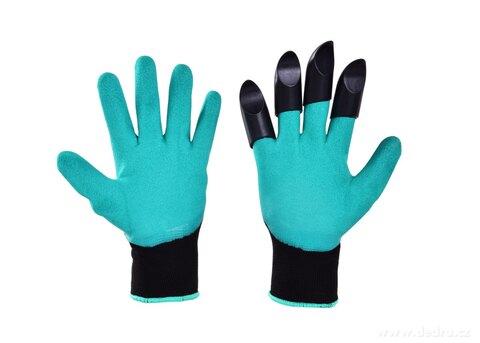 DA25911-HRABAVICE, pracovné rukavice so 4 pazúry z pevného plastu