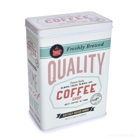 DA26331-Kovová dóza QUALITY COFFEE s vekom