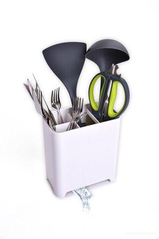 DA26491-Stojan / odkvapávač na kuchynské náčinie a príbory s odkvapom