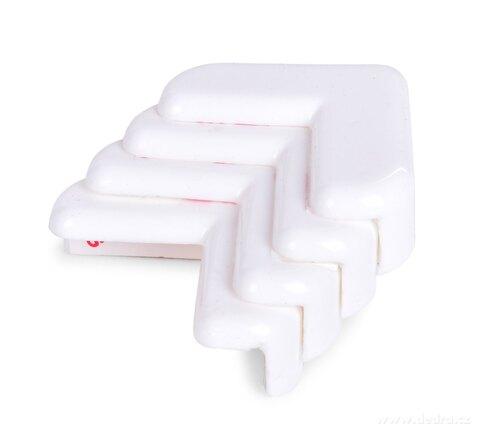 DA26611-4ks tlmiace nárazník na rohy nábytku, samolepiaca