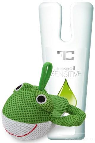 FC0537-SENSITIVE sprchový olej + huba ŽABKA