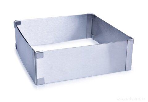 DA26872-Nastaviteľná štvorcová forma L na pečenie z nerezovej ocele