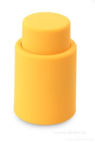 DA5752-FLAŠKÁTOR vákuový uzáver na fľaše oranžový