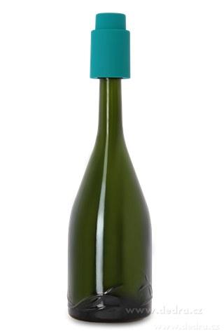 DA5755-FLAŠKÁTOR vákuový uzáver na fľaše tyrkysový