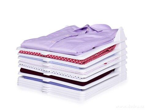 DA27241-Sada 10 ks stohovateľné PRÁDLOŠTOS praktický organizér na oblečenie, z pevného plastu
