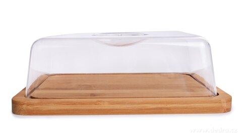 FC27121-Bambusová doštička s poklopom na syry aj iné potraviny GoEco®