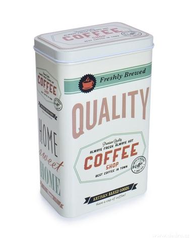 DA26330-Kovová dóza QUALITY COFFEE s vekom