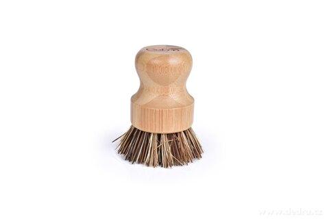 DA27313-Bambusový okrúhla kefa so štetinami z palmových vlákien