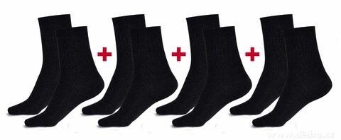 FC2584S1-Sada 4 párov komfortných zdravotných ponožiek