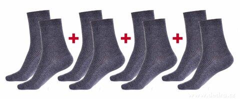 FC2583S1-Sada 4 párov komfortných zdravotných ponožiek