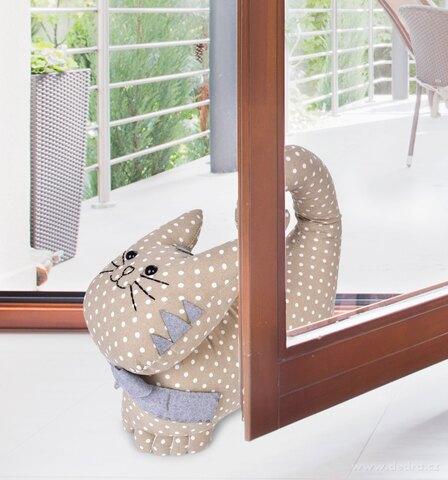 FC77061-Dverové textilné zarážka v tvare mačky