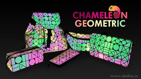 FC27892-PEŇAŽENKA, reflexne svietiaca pri dopade svetla, CHAMELEON GEOMETRIC