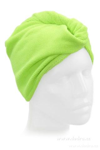 DA5948-2 ks turban na vysúšanie vlasov jasne zelený