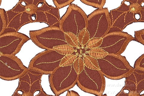 DA5914-Exkluzívne slávnosť. obrus 85 x 85 cm čokoládovo-zlatý