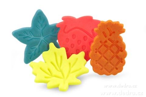 DA5956-Jahoda + ananás sada 4 ks formičiek na marcipán a cukor. hmoty