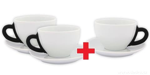 DA6194S-Sada 2 + 1 ZADARMO porcelánový hrnček s tanierikom