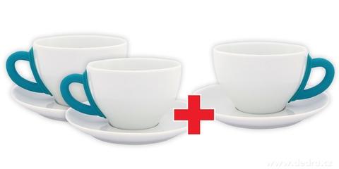 DA6193S-Sada 2 + 1 ZADARMO porcelánový hrnček s tanierikom