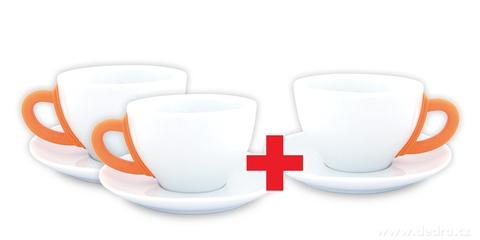 DA6192S-Sada 2 + 1 ZADARMO porcelánový hrnček s tanierikom