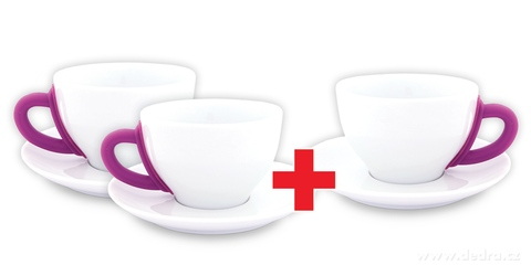 DA6191S-Sada 2 + 1 ZADARMO porcelánový hrnček s tanierikom