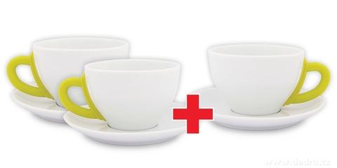 DA6190S-Sada 2 + 1 ZADARMO porcelánový hrnček s tanierikom