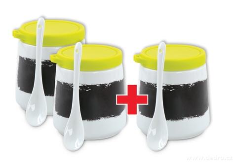 DA79981S-Sada 2 + 1 ZADARMO popisovateľná dóza s porcelánovou lyžičkou