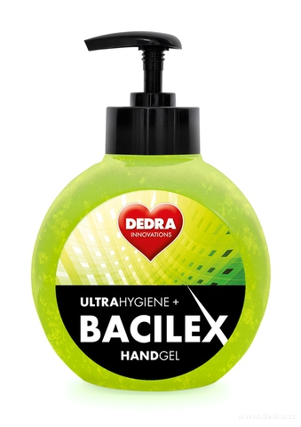 BB017021-Čistiaci gél na ruky, 65% alkoholu, 500 ml, handGEL BACILEX ultraHYGIENE +