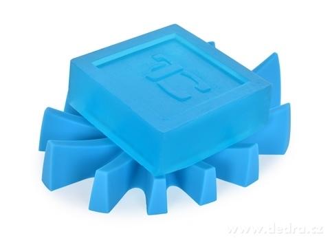 DA6036-Mýdlovník tyrkysový stojan na tuhé mydlá silikón