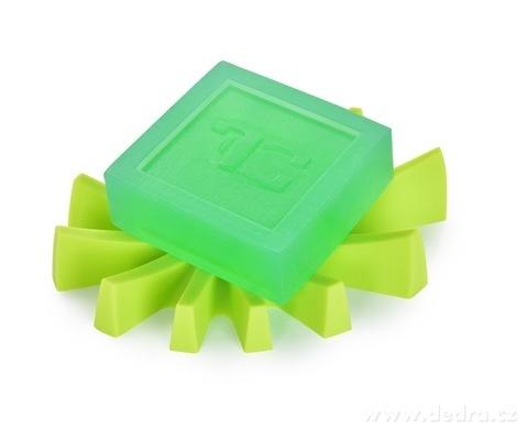 DA6037-Mýdlovník zelený stojan na tuhé mydlá silikón