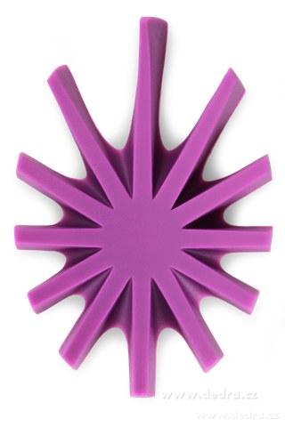 DA6039-Mýdlovník fialový stojan na tuhé mydlá silikón
