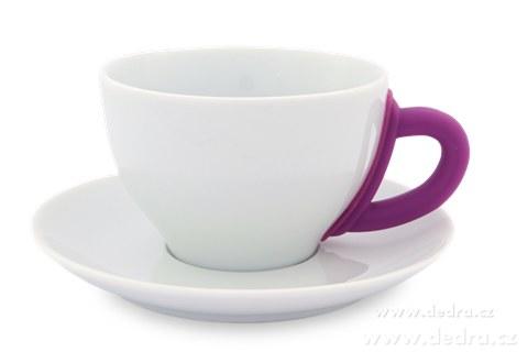 DA6191-Porcelánový hrnček s tanierikom fuchsiovej