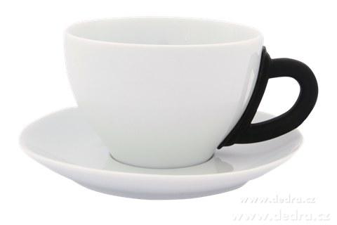 DA6194-Porcelánový hrnček s tanierikom čierny