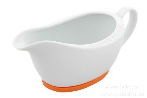 DA6202-Porcelánový omáčník  oranžový,obj.400 ml