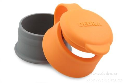 DA6604-Uzáver na sáčok oranžový priemer cca 5 cm