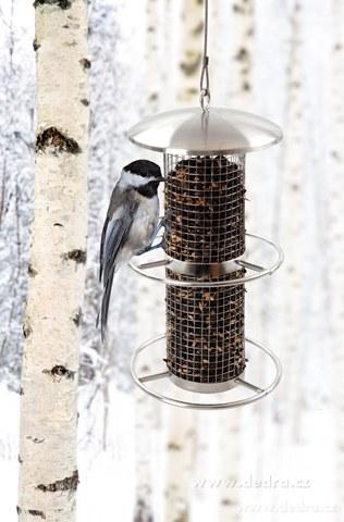 DA6638-Nerezové krmítko pre vtáky závesné