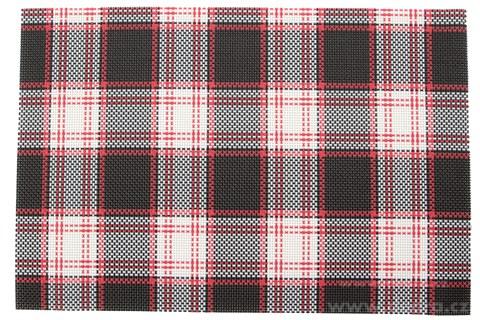 DA6683-Umývateľné prestieranie čierno-červeno-biele