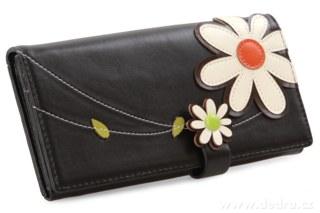 FC67841-Dámska peňaženka, s aplikáciou kvetín