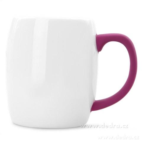 DA69662-Hrnček s uchom 600 ml fuchsiovej porcelán / silikon